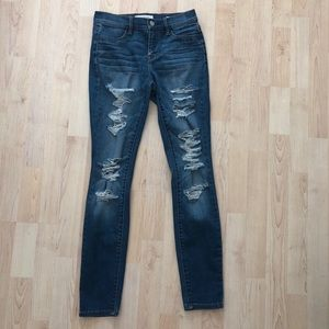 PACSUN dark wash ripped jeans!